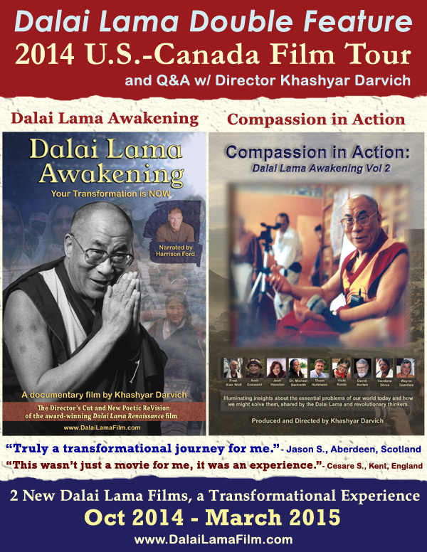 Dalai                                                           Lama Double                                                           Feature Poster                                                           - US-Canada