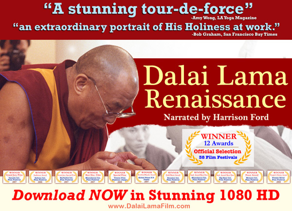 Now on                                                           1080 HD:                                                           'Dalai Lama                                                           Renaissance'